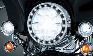 "7"" Headlight Trim Ring feature LED Halo"